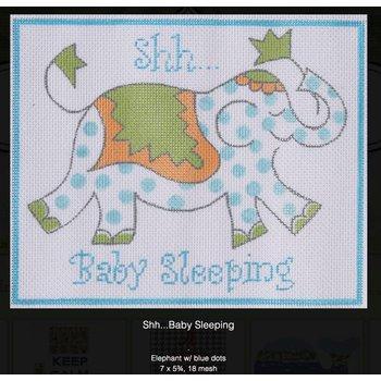 shh... baby sleeping elephant