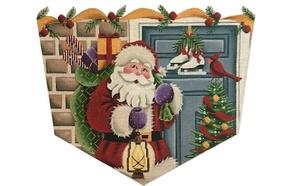 Santa at the Door - Topper