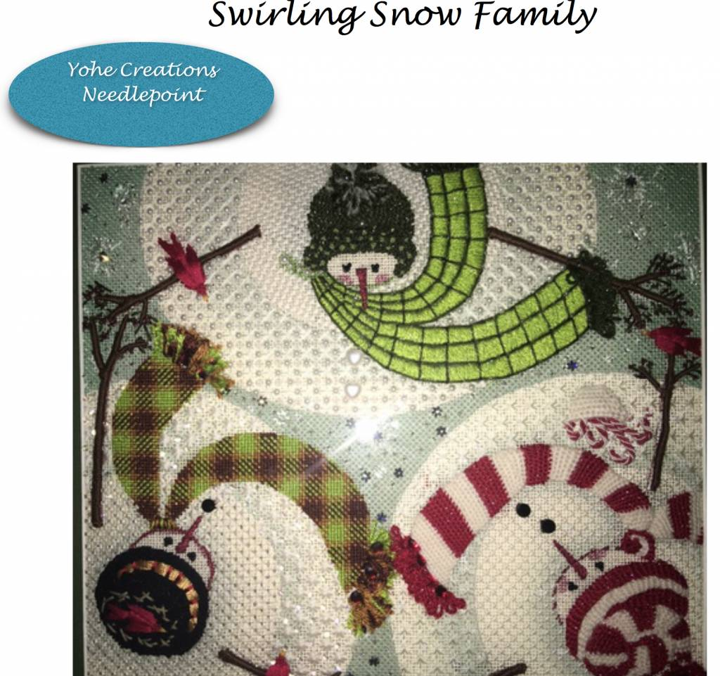 Stitch Guide Swirling Snow Family