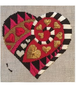 Vallerie Needlepoint Gallery Wonderland Heart - AL 002