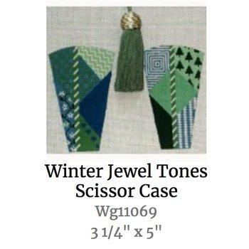 Winter Jeweltones Scissor Case