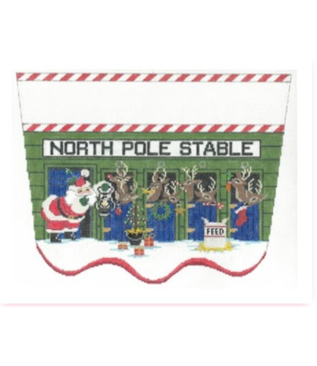North Pole Stable Stocking Topper