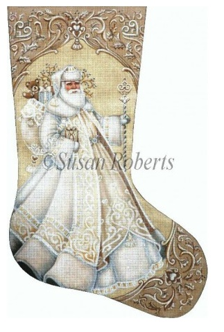 Ivory Santa Stocking