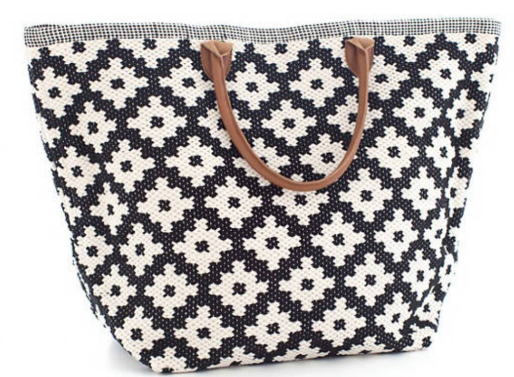 Le Tote (Grand) Navy and Ivory