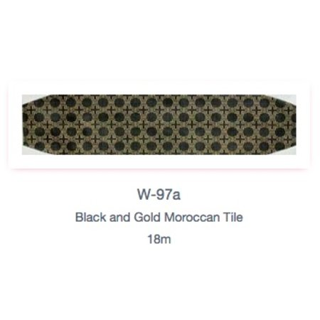 Black and Gold Moroccan Tile Cummerbund