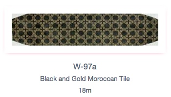 Black and Gold Moroccan Tile Cummerbund