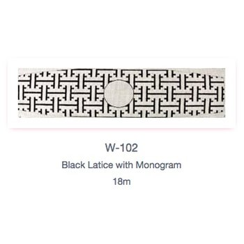 Black Lattice Cummerbund