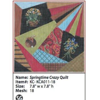 Spring Crazy Quilt w/ Stitch Guide 18M