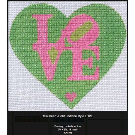 Heart Love Pink/Green OM-06