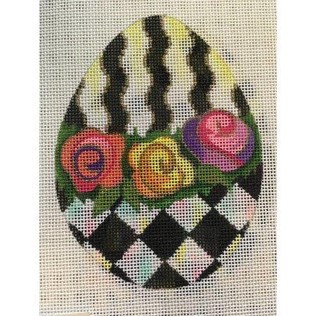Roses B&W Egg