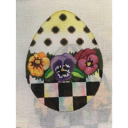 Pansy B&W Egg
