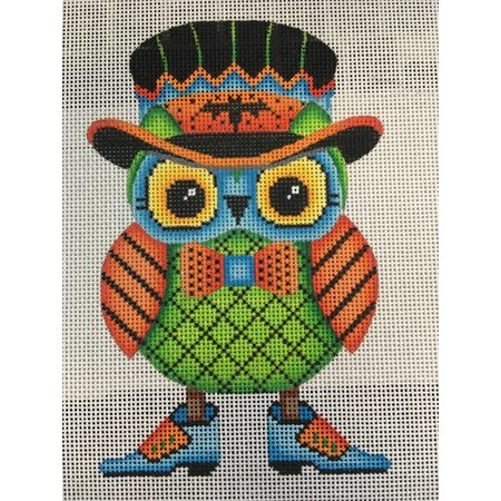 Mr Owl with Black Top Hat