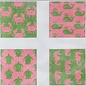 Coasters Pink And Green Sea life