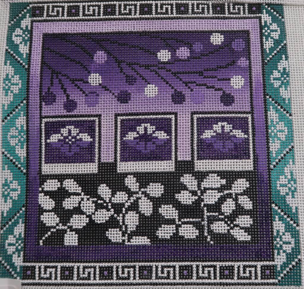 Purple Geo Flowers