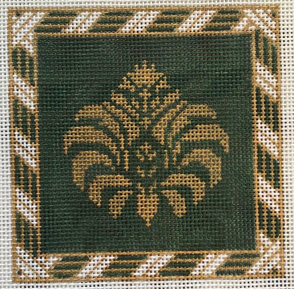 Gold/Green Peony