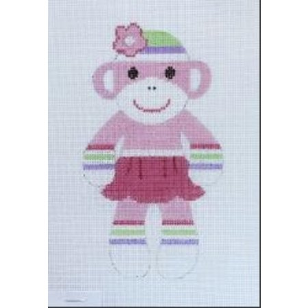 Pink Skirt Sock Monkey