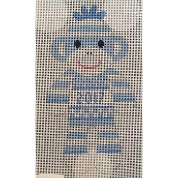 Blue 2017 Sock Monkey