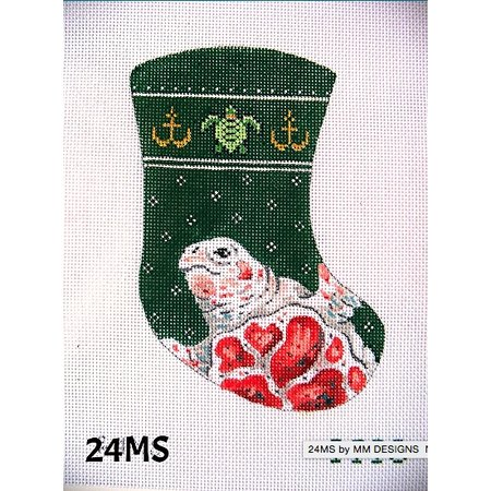 Turtle Stocking Green and Red