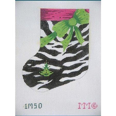 Zebra Print Mini Stocking