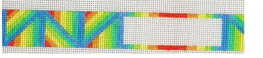 Geometric Rainbow Dog Collar