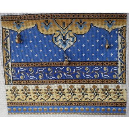 Tallis Bag Blue/Gold with Bells