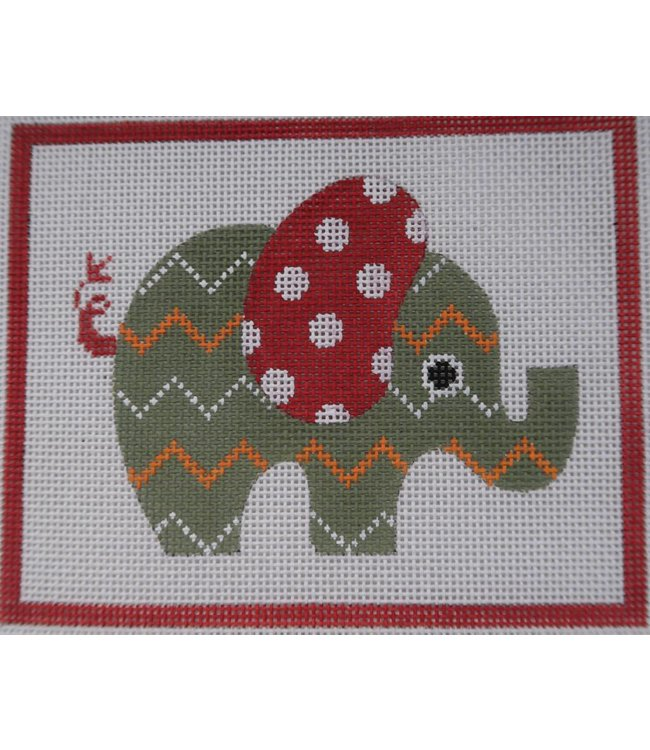 Green Patterned Elephant
