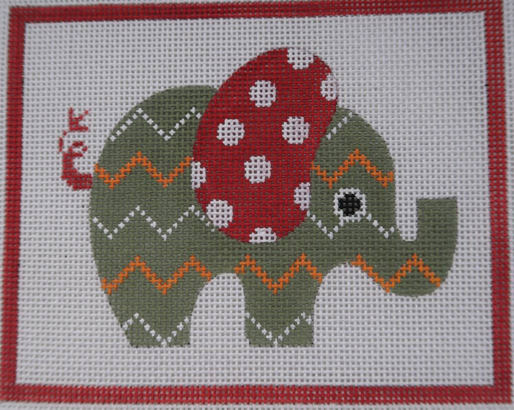 Green Patterned Elephant
