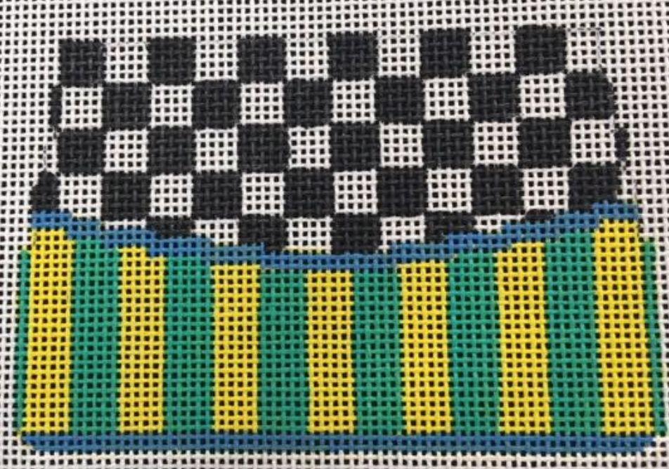 Small Purse Strips and Checks Ornament