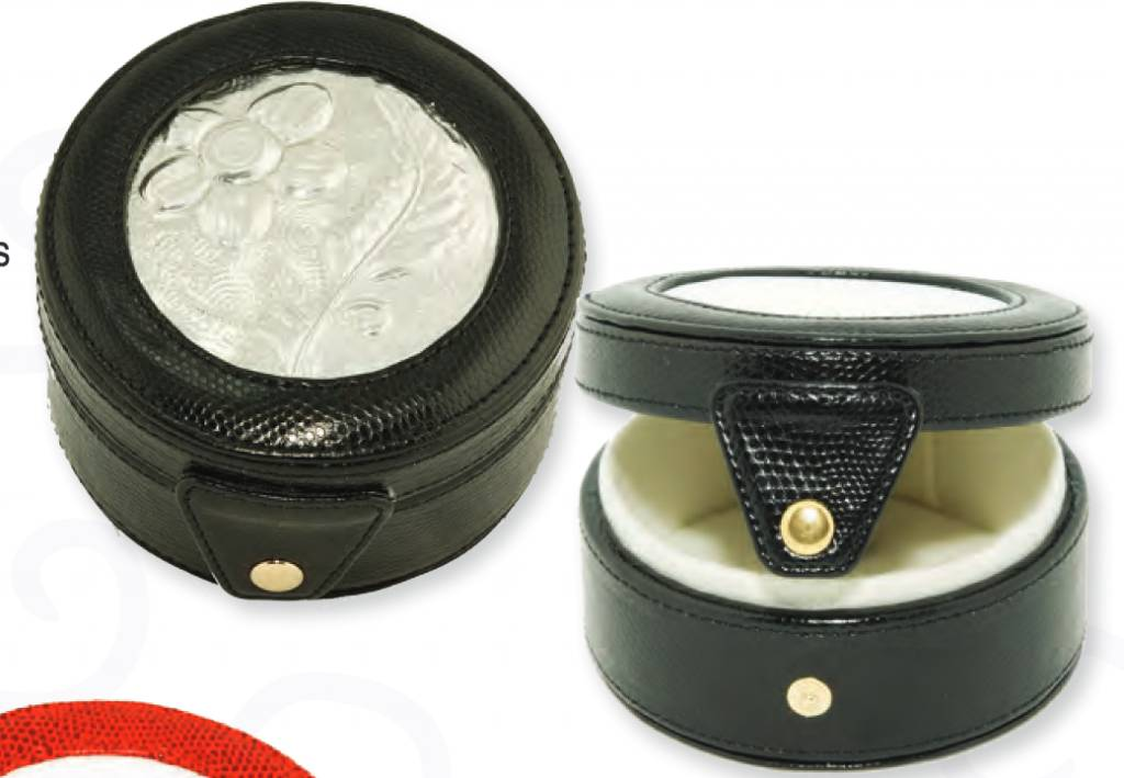 Leather Round Gift Box Bag 29 (Canvas not Included)