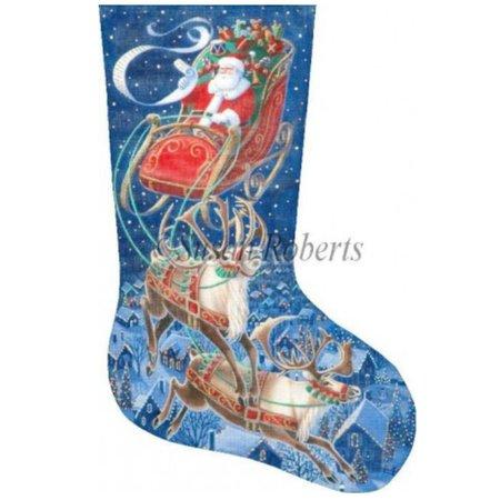 Santa Flying Through the Stars