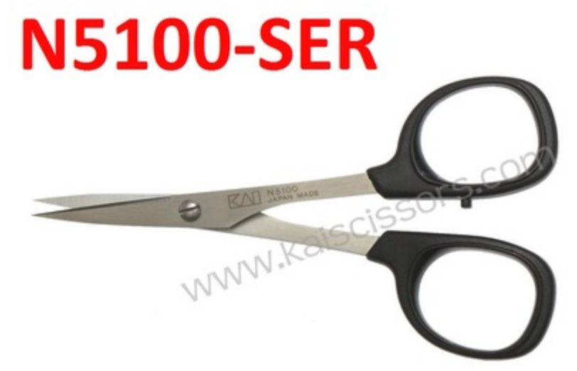 Kai 4 inch Curved Serrated Scissor