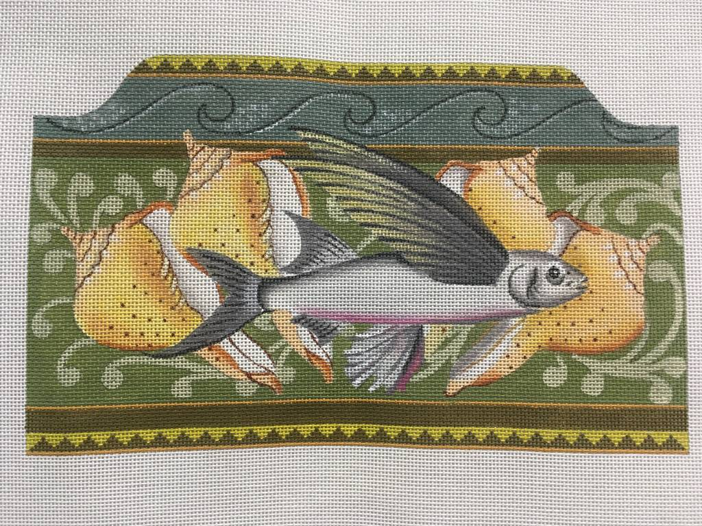 Flying Fish Clutch Purse