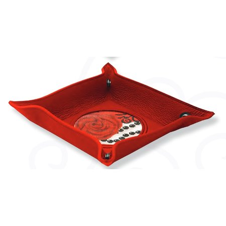 Leather Snap Tray Red 4x4 w/o Canvas