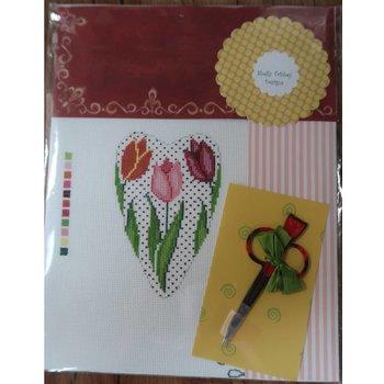 Tulip Hearts  Scissor Case with Scissors