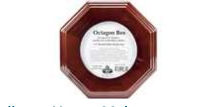 Mahogany Finish Octagon Box