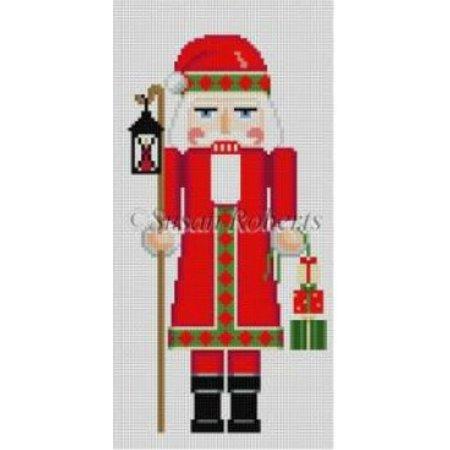 Nutcracker, Santa w/ Lantern 18CT