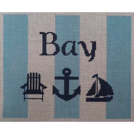 Bay with Adirondack Chair Blue and White