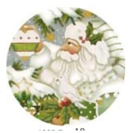 Wintergreen Santa Ornament Dove 18 ct.