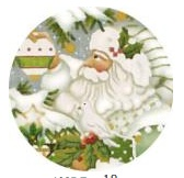 Wintergreen Santa Ornament Dove 18 ct.