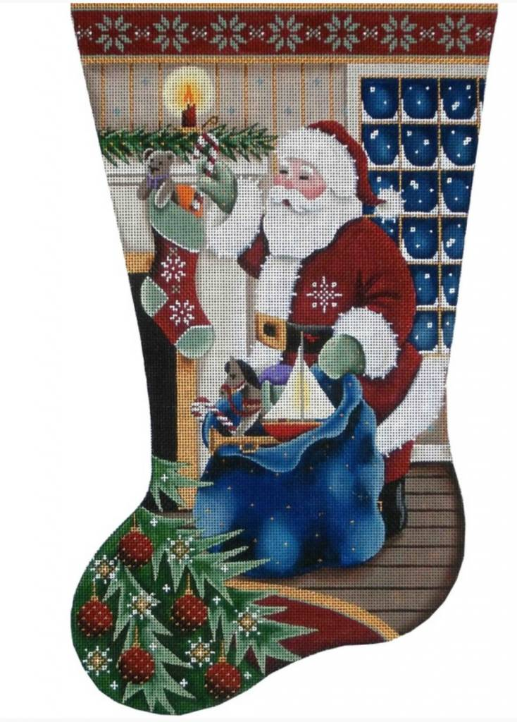 Filling Stocking - Full Stocking -- TOE TO RIGHT