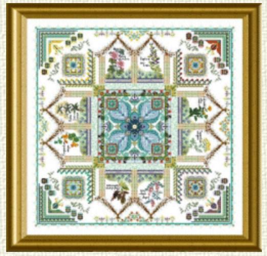 The Medieval Dyer's Garden Mandala