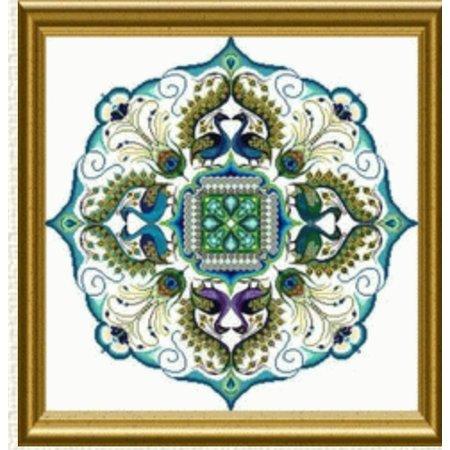 The Sparkling Peacock Mandala