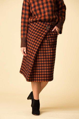 SEA SEA New York Ethno Pop A-Line Wrap Skirt