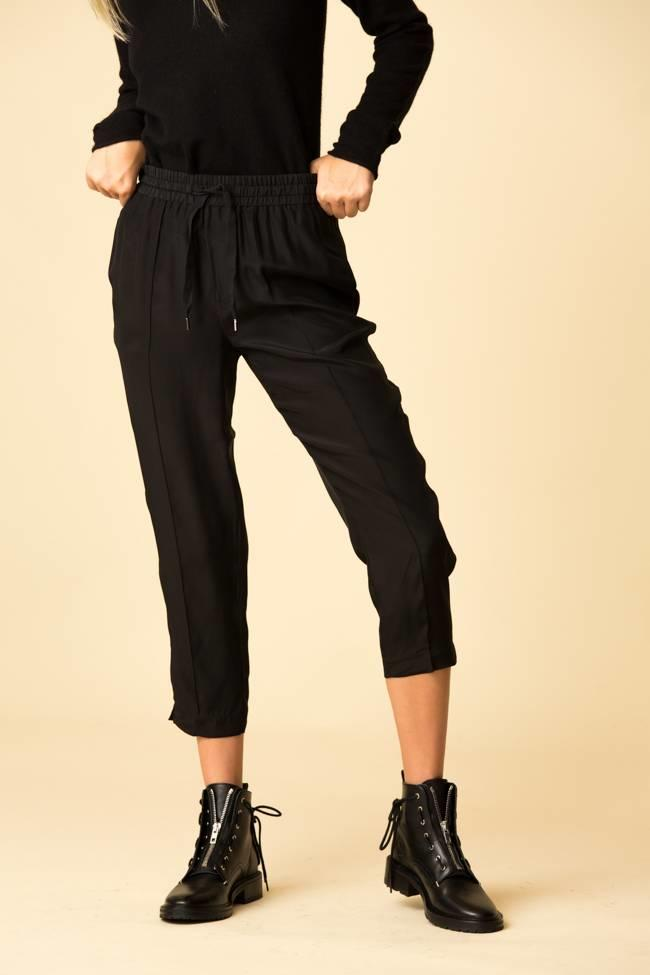 ATM ATM Silk Pull-On Cropped Pants