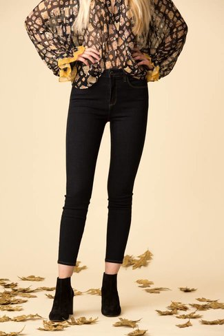 L'Agence L'Agence Margot High Rise Skinny - Midnight