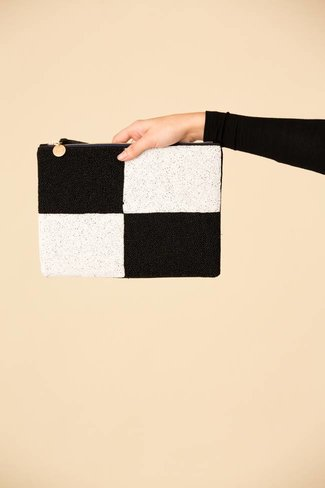 Clare V. Clare V. Beaded Colorblock Flat Clutch