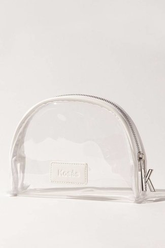 Kosas Kosas Lucid Clear and White Makeup Bag