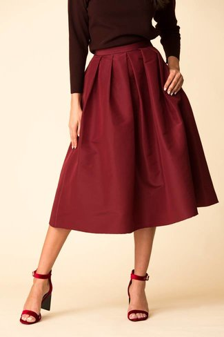 Tibi Tibi Silk Faille Full Skirt