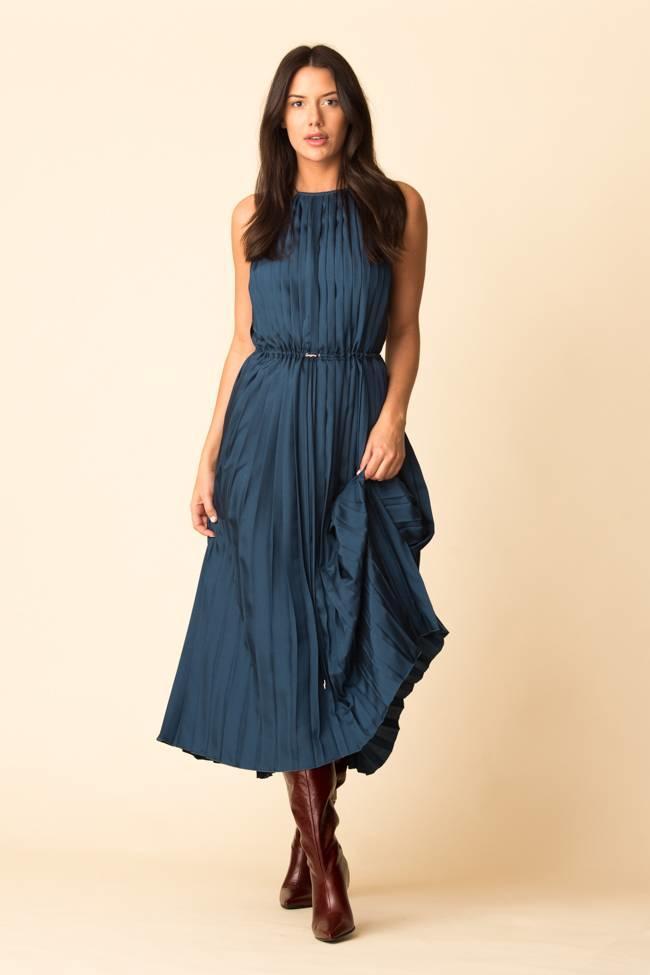 2e29ec742 Tibi Mendini Twill Pleasted Dress - The Fold