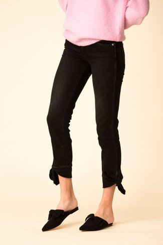 AMO AMO Tie Ankle Jean - Black Magic